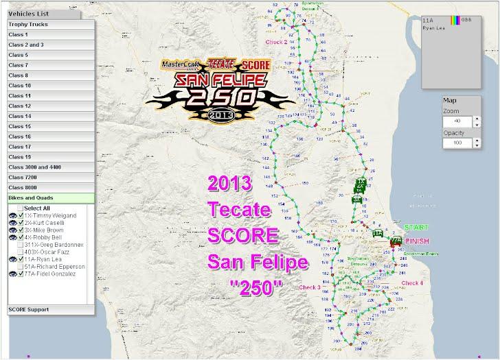 San Felipe 250 Race Tracking 2013 - Click image
